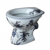 Staand toilet met blauwe bloemen | Esther Derkx