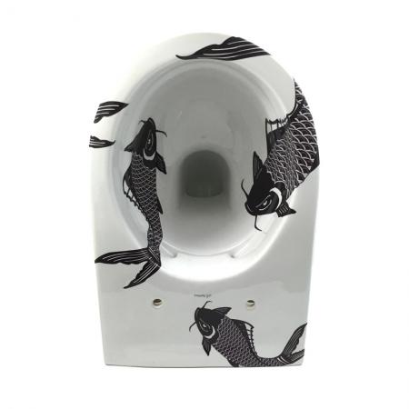 Sphinx toilet met koikarper design