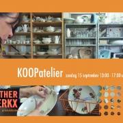 KOOPatelier op 18 september van 13:00-17:00 uur op de Uraniumweg 17 te Utrecht
