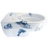 Design toilet met een blauwe afbeelding van zeedieren