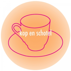 Button-kop en schotel