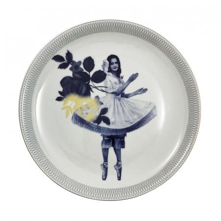 Vintage dinerbord met een design van Esther Derkx.