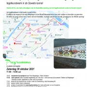 Uitnodiging voor de opening van Poort van Welgelegen-tegelkunstwerk in de Soweto tunnel, Utrecht